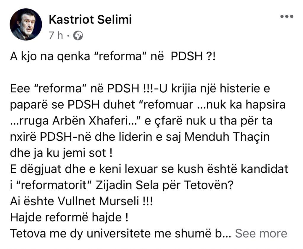 """A kjo na qenka """"reforma"""" në PDSH ?!"""